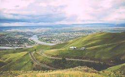 Carretera con curvas de Idaho Fotos de archivo libres de regalías
