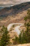 Carretera con curvas en el valle de Okanagan Foto de archivo libre de regalías