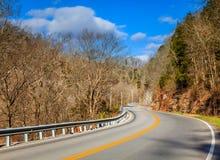 Carretera con curvas en Kentucky Foto de archivo libre de regalías
