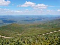 Carretera conmemorativa en la montaña de Whiteface, Adirondack Imagenes de archivo