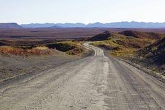 Carretera de Alaska Denali en otoño foto de archivo