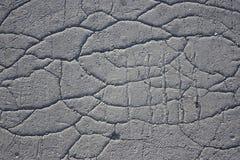 Carretera de asfalto agrietada vieja con las impresiones del neumático Imagenes de archivo