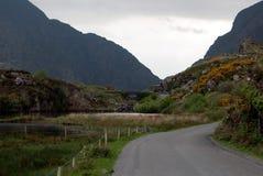 Carretera de asfalto entre las montañas Fotos de archivo libres de regalías