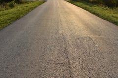 Carretera de asfalto de tierra del camino Imagen de archivo