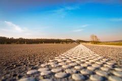Carretera de asfalto vacía Fotografía de archivo