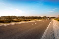Carretera de asfalto vacía Fotos de archivo libres de regalías
