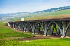 Carretera de Autostrada en Eslovaquia Imágenes de archivo libres de regalías