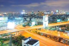 Carretera de Bangkok al centro de la ciudad Foto de archivo libre de regalías