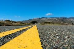 Carretera de California centrada Fotos de archivo libres de regalías
