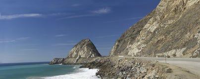 Carretera de California en la punta Mugu, CA Foto de archivo libre de regalías