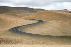 Carretera de circunvalación en Islandia Imagen de archivo libre de regalías