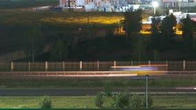 Carretera de circunvalación video del suburbio de la noche almacen de video