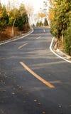 Carretera de la caída Fotografía de archivo libre de regalías