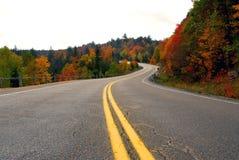 Carretera de la caída imagenes de archivo