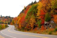 Carretera de la caída Fotografía de archivo