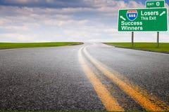 Carretera de la comercialización Imagen de archivo