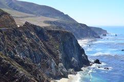 Carretera de la Costa del Pacífico, California Imágenes de archivo libres de regalías