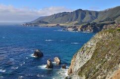 Carretera de la Costa del Pacífico, mecanismo impulsor de 17 millas, California Imagen de archivo
