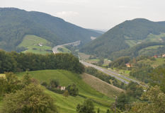 Carretera de la montaña de Eslovenia Imagen de archivo