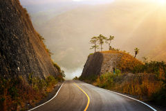 Carretera de la montaña en America Central Imagen de archivo libre de regalías