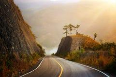 Carretera de la montaña en America Central Fotografía de archivo libre de regalías
