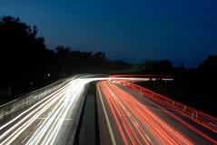 Carretera de la noche Foto de archivo libre de regalías