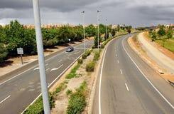 Carretera de La Plata, Caceres, Extremadura, España Foto de archivo libre de regalías