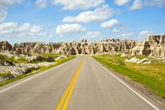 Carretera de los Badlands Imagen de archivo libre de regalías