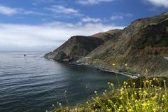 Carretera 1 de los E.E.U.U. en California Fotografía de archivo