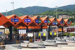 Carretera de peaje de las aduanas en Cataluña Imagen de archivo