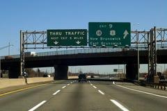 Carretera de peaje de NJ Imagen de archivo