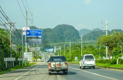 Carretera de Tailandia fotografía de archivo libre de regalías