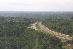 Carretera de Transamazonic Imagen de archivo libre de regalías