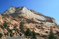 Carretera de Zion Mt Carmel Foto de archivo