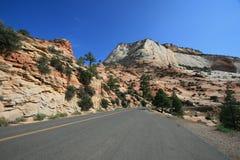 Carretera de Zion Mt Carmel Fotos de archivo libres de regalías