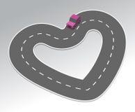 Carretera del amor Fotos de archivo libres de regalías
