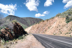 Carretera del desierto Imagen de archivo libre de regalías