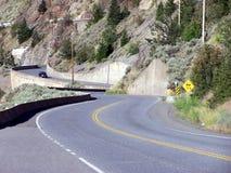 Carretera del enrollamiento Fotos de archivo libres de regalías