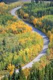 Carretera del enrollamiento Imagen de archivo libre de regalías