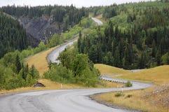 Carretera del enrollamiento Foto de archivo