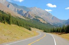 Carretera del enrollamiento Foto de archivo libre de regalías