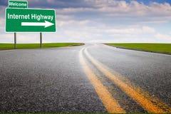 Carretera del Internet fotografía de archivo
