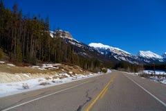 Carretera del invierno Imágenes de archivo libres de regalías