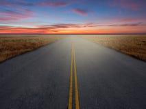 Carretera del país Foto de archivo libre de regalías