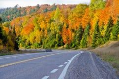 Carretera del transporte Canadá Fotografía de archivo