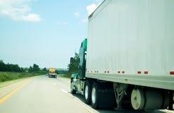 Carretera del transporte de la carga Imagen de archivo libre de regalías
