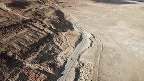 Carretera 90 El mar muerto almacen de metraje de vídeo