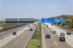 Carretera A5 en Alemania Fotos de archivo libres de regalías