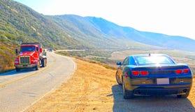 Carretera en California Imagen de archivo libre de regalías