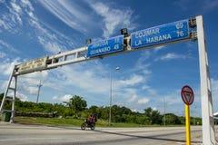 Carretera en Cuba Imagen de archivo